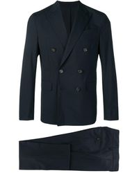 DSquared² Classic Double-breasted Suit - Blue