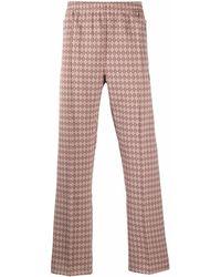 Needles Argyle-print Slip-on Straight-leg Trousers - Multicolour