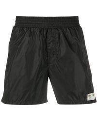 Gucci Label Swim Shorts - Black