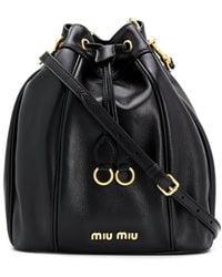 Miu Miu Matelasse Bucket Bag - Black