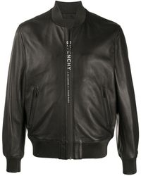 Givenchy Logo-print Bomber Jacket - Black