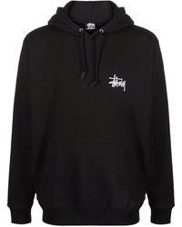 Stussy Logo-print Pullover Hoodie - Black