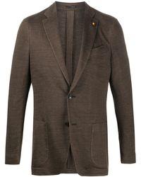 Lardini Patch Pocket Blazer - Brown