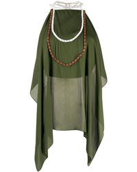 Jacquemus Draped Blouse - Green