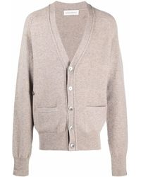 Extreme Cashmere Button-up Knitted Cardigan - Grey