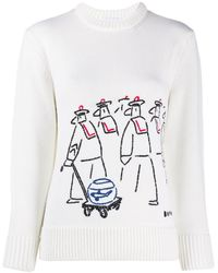 Patou Whipstitch Designer Sweater - Multicolour