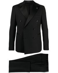 Tagliatore Classic Double-breasted Suit - Black