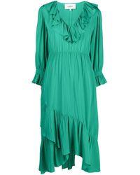 Ba&sh Ruffle Midi Dress - Green