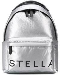 Stella McCartney Stella Logo Backpack - Metallic