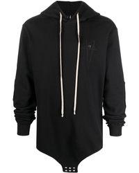 Rick Owens X Champion Embroidered-logo Hoodie - Black