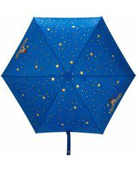Moschino Teddy Bear-print Umbrella - Blue