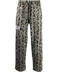 Pleasures Striped Drawstring Pants - Brown