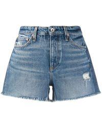 Rag & Bone Mid-rise Denim Shorts - Blue