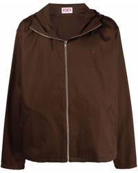 EDEN power corp Logo-embroidered Organic Cotton Jacket - Brown