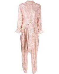 Stella McCartney Leopard Print Jumpsuit - Pink