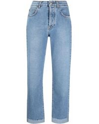 FEDERICA TOSI High-rise Straight Jeans - Blue