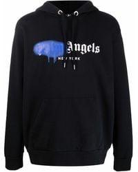 Palm Angels - Sprayed Logo-print Hoodie - Lyst