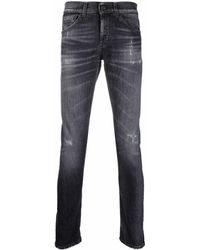Dondup Mid-rise Slim Fit Jeans - Grey