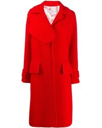 Victoria Beckham Textured Asymmetric Lapel Coat