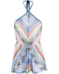 Missoni Fine-knit Playsuit - Blue