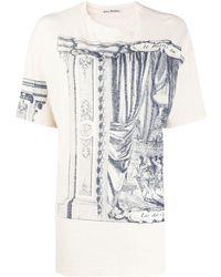 Acne Studios Oversized Printed T-shirt - White