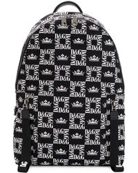 Dolce & Gabbana All-over Logo Backpack - Black