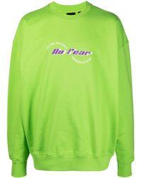 Daily Paper Slogan-print Sweatshirt - Green
