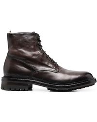 Officine Creative Lowry Leather Boots - Brown