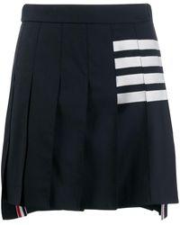 Thom Browne 4-bar Pleated Mini Skirt - Blue