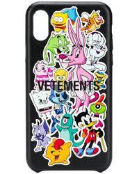 Vetements Monsters Iphone Xs Phone Case - Black