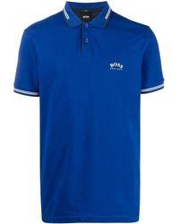 BOSS by Hugo Boss Embroidered Logo Polo Shirt - Blue