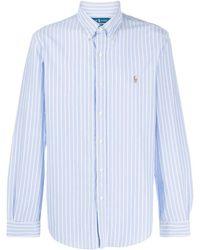 Ralph Lauren Striped Poplin Skirt - Blue