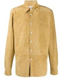 Loewe Slim-fit Suede Shirt - Multicolour
