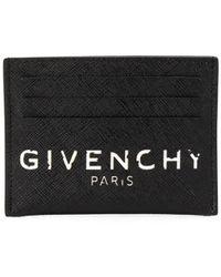 Givenchy Vintage-effect Logo Cardholder - Black