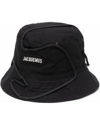 Jacquemus Logo-patch Bucket Hat - Black