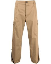 Nine:inthe:morning Zipped-ankles Cargo-pockets Straight-leg Pants - Natural