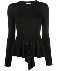 Alexander McQueen Layered Knitted Sweater - Black