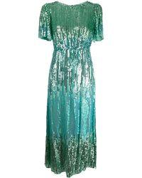 RIXO London Venus Sequin Cocktail Dress - Green