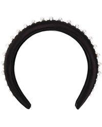 Ferragamo Pearl-embellished Headband - Black