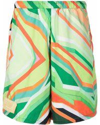 Formy Studio Abstract-print Shorts - Green