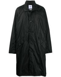 Opening Ceremony Oversized Logo Print Coat - Black