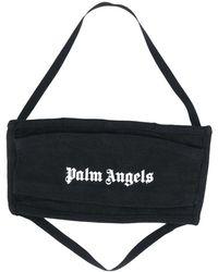 Palm Angels Logo Print Face Mask - Black