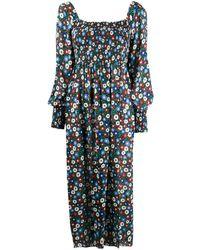 RIXO London Marie Midi Dress - Blue