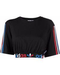 adidas Adicolor Tricolor Crop T-shirt - Black