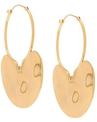 Patou Hammered Hoop Earrings - Metallic