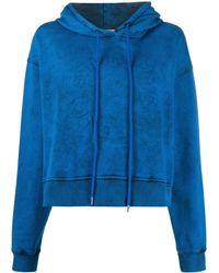 Stella McCartney Logo Cropped Hoodie - Blue