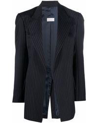 Nine:inthe:morning Vertical Striped Blazer - Blue