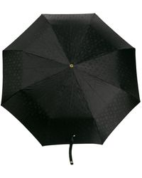 Alexander McQueen Crystal Studded Skull Umbrella - Black