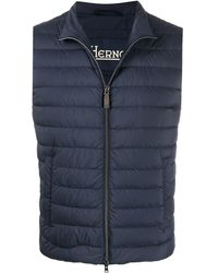 Herno Padded Zip-up Gilet - Blue