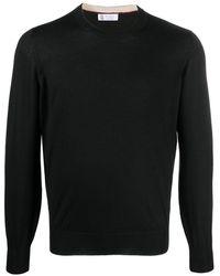 Brunello Cucinelli Cashmere Crew-neck Sweater - Black